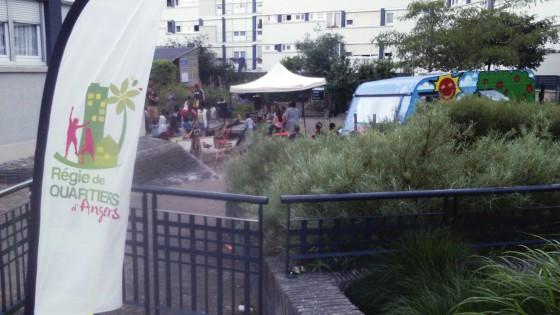 Quartier d'été à Grand Pigeon, une action de la régie en partenariat avec les associations du quartier.