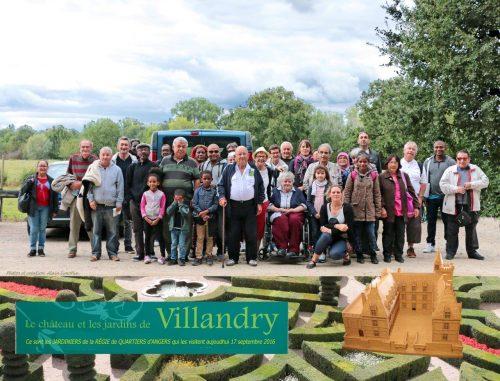Sortie 2016 des jardiniers : Visite des jardins et du Château de Villandry .