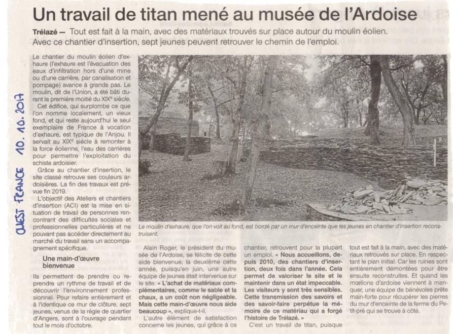 Le chantier d'insertion «Murets de schiste»de la Régie de Quartiers un travail de Titan.