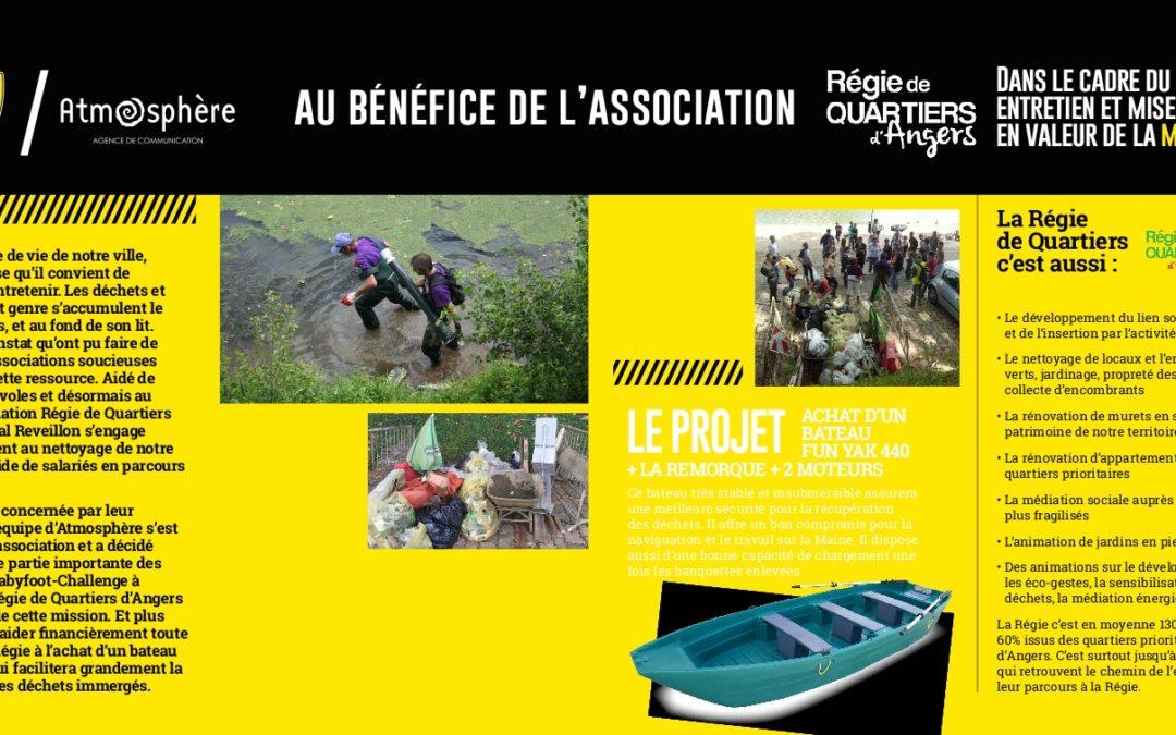 25 JUIN , «Babyfoot -Challenge» au bénéfice de la Régie de Quartiers d'Angers